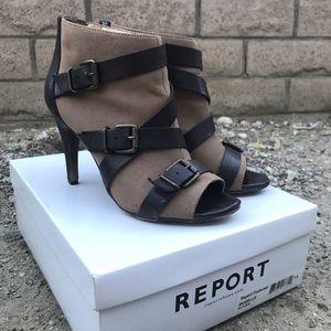 report footwear strappy bootie